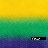 Vector Geometric Background In Brazil Flag Stock Images
