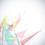 Vector geometric background with polygonal Stock Photography