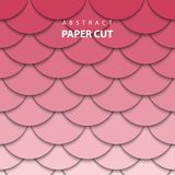 Vector geometric background with red and pink color paper cut vector illustration