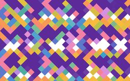 Vector geometric background of rhombuses and squares in rainbow color. S. bright geometry texture for creative surface, background, backdrops, curtains and Stock Photos