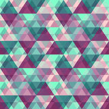 Vector geometric background. Vector seamless background with vintage geometric pattern Stock Image