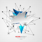 Vector geometric background with triangles Royalty Free Stock Photography
