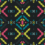 Vector Geometric background, Tribal seamless Royalty Free Stock Photo