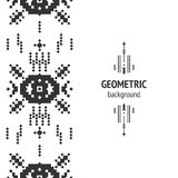 Vector Geometric background. Tribal seamless pattern, ethnic collection, aztec stile isolated on white background Royalty Free Stock Photos