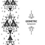 Vector Geometric background. Tribal seamless pattern, ethnic collection, aztec stile  on white background Stock Images
