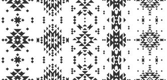 Vector Geometric background. Tribal seamless pattern, ethnic collection, aztec stile on white background vector illustration