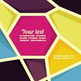 Vector geometric banner template Stock Photos