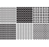 Vector geometric black and white textures Stock Photography