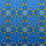 Vector Geometric Blue Seamless Pattern Stock Photography