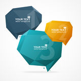 Vector Geometric Bubble Text Menu Stock Photo