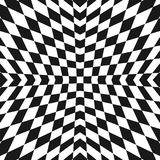 Vector geometric checkered pattern. Op art style ornament. royalty free illustration