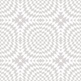 White and gray vector geometric seamless pattern with cross shapes. Optical illusion effect. Stock Photo
