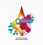 Vector Geometric Christmas Sale Stickers Royalty Free Stock Photography