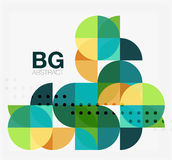 Vector geometric circle abstract background Stock Photo