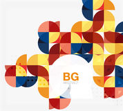 Vector geometric circle abstract background Royalty Free Stock Photos