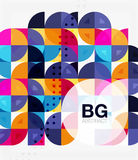 Vector geometric circle abstract background Stock Image