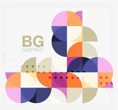 Vector geometric circle abstract background. Vector template background for workflow layout, diagram, number options or web design royalty free illustration