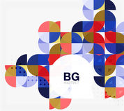 Vector geometric circle abstract background. Vector template background for workflow layout, diagram, number options or web design Royalty Free Stock Images