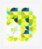 Vector geometric circle abstract background Royalty Free Stock Photo