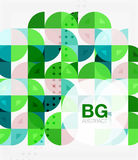 Vector geometric circle abstract background Royalty Free Stock Images