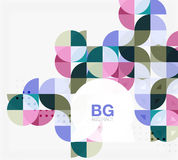 Vector geometric circle abstract background Royalty Free Stock Photography