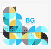 Vector geometric circle abstract background. Vector template background for workflow layout, diagram, number options or web design stock illustration