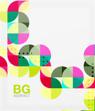Vector geometric circle abstract background Stock Images