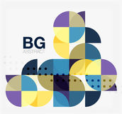 Vector geometric circle abstract background. Vector template background for workflow layout, diagram, number options or web design Stock Image