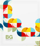 Vector geometric circle abstract background. Vector template background for workflow layout, diagram, number options or web design vector illustration