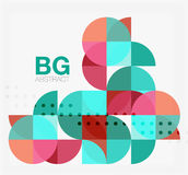 Vector geometric circle abstract background. Vector template background for workflow layout, diagram, number options or web design Royalty Free Stock Photography