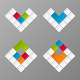 Vector geometric colorful figures Royalty Free Stock Image