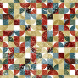 Vector geometric colorful flower canvas, squared abstract seamle Royalty Free Stock Photos