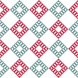 Vector geometric colorful seamless pattern with squares. EPS 10 royalty free illustration