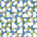 Vector geometric colorful textile abstract seamless pattern, sph Royalty Free Stock Images