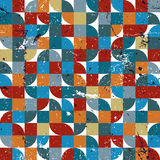 Vector geometric colorful textile abstract seamless pattern, squared jolly mosaic canvas. stock illustration