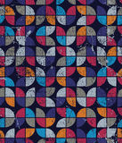 Vector geometric colorful tulip canvas, frayed abstract seamless. Pattern Stock Photo