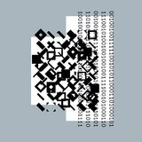 Vector geometric composition, abstract graphic art. Royalty Free Stock Photography