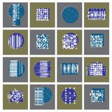 Vector geometric compositions set, abstract graphic arts collect. Ion Royalty Free Stock Photos