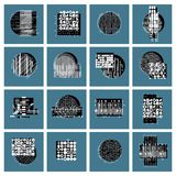 Vector geometric compositions set, abstract graphic arts collect. Ion Royalty Free Illustration