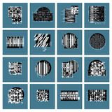 Vector geometric compositions set, abstract graphic arts collect. Ion Stock Illustration