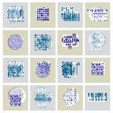 Vector geometric compositions set, abstract graphic arts collect. Ion Royalty Free Stock Images