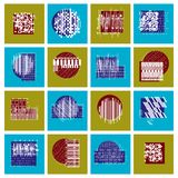 Vector geometric compositions set, abstract graphic arts collect. Ion Stock Images