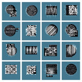 Vector geometric compositions set, abstract graphic arts  Royalty Free Stock Photography