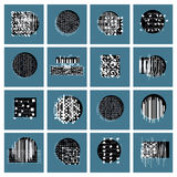Vector geometric compositions set, abstract graphic arts  Royalty Free Stock Photos