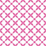 Vector geometric cross flower seamless pattern background, symmetrical royalty free illustration