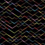 Vector Geometric Cubes Background. Dark Isometric Pattern Royalty Free Stock Image
