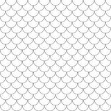Vector geometric fish scales chinese seamless pattern. Wavy roof tile background. Geometric fish scales chinese seamless pattern. Wavy roof tile background for Stock Photos