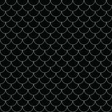 Vector geometric fish scales chinese seamless pattern. Wavy roof tile background. Geometric fish scales chinese seamless pattern. Wavy roof tile background for Royalty Free Stock Images