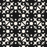 Vector geometric floral ornamental pattern. Seamless black and white texture. Vector geometric floral ornamental pattern. Abstract seamless black and white stock illustration