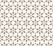 Vector geometric floral pattern. Ornamental seamless texture with flowers. stock illustration